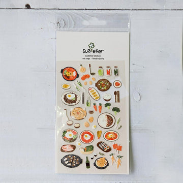 Suatelier Food Trip #2 Sticker Sheet
