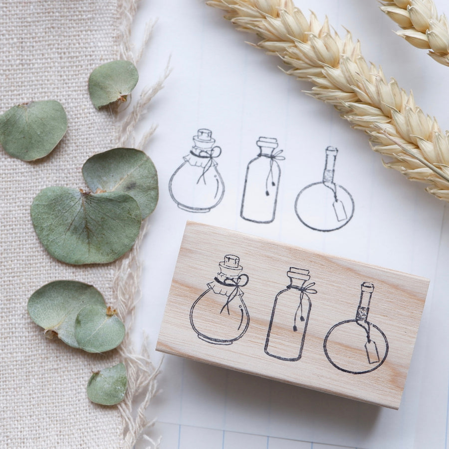 Laabiri Potion Bottles Rubber Stamp