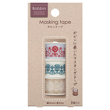 Kokuyo bobbin 3 roll set masking tape - Embroidery