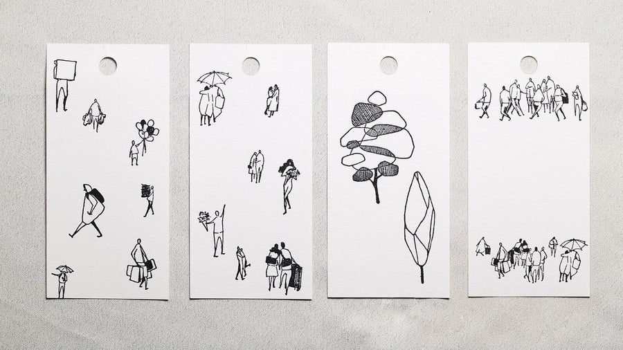 Modaizhi One Day: Tree Rubber Stamp set - C