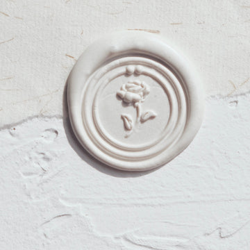 Feygu studio the Renaissance series wax seal stamp - rose (round)