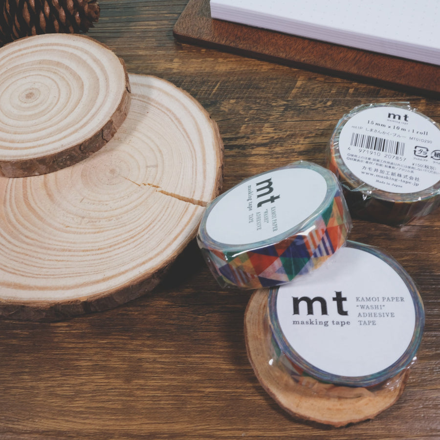 MT Shimasankaku Blue Washi Masking Tape