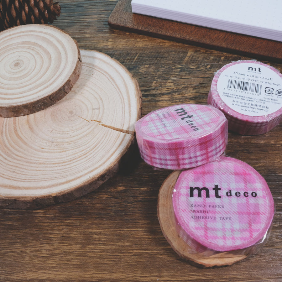 MT deco check light pink