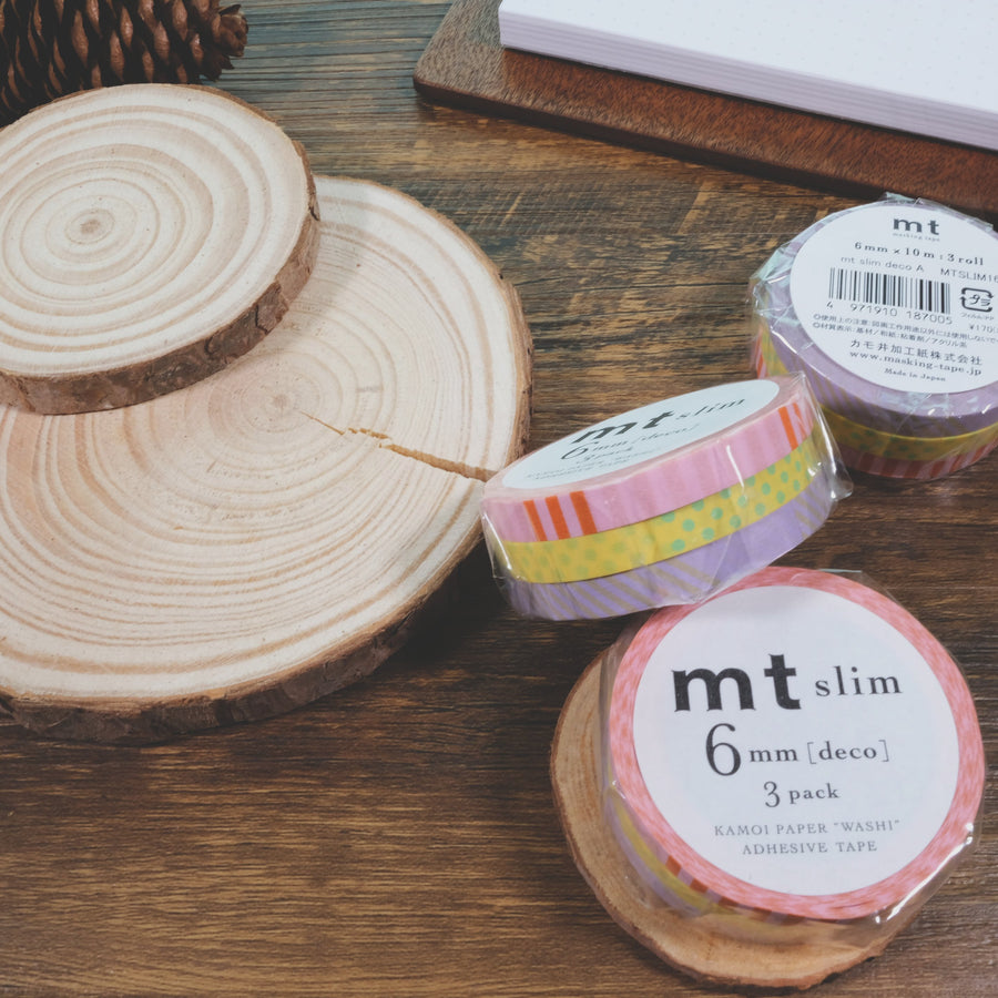 MT Slim Deco A Washi Masking Tape - 3 rolls