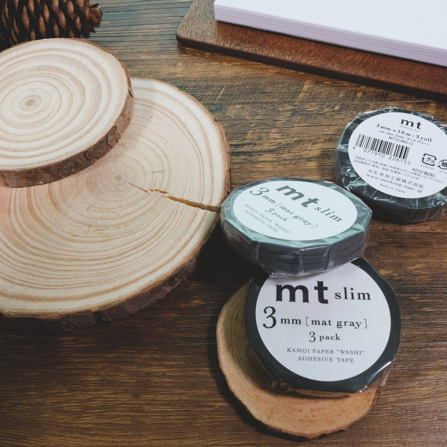 MT slim 3mm matte gray washi masking tape
