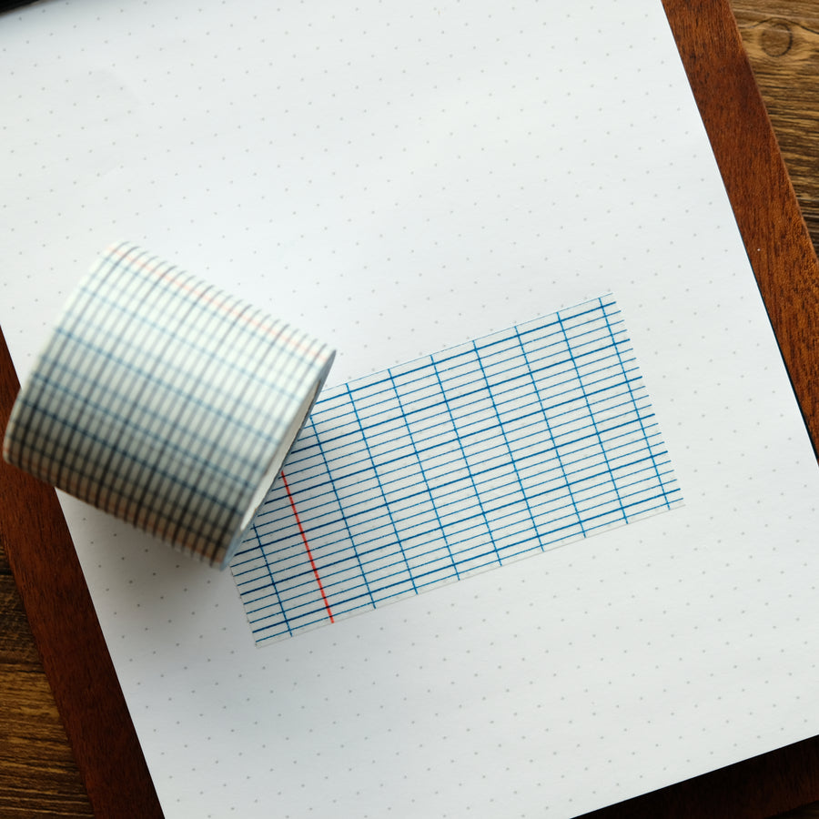 Classiky Grid 12mm, 18mm, 45mm Masking Tape (Indigo)