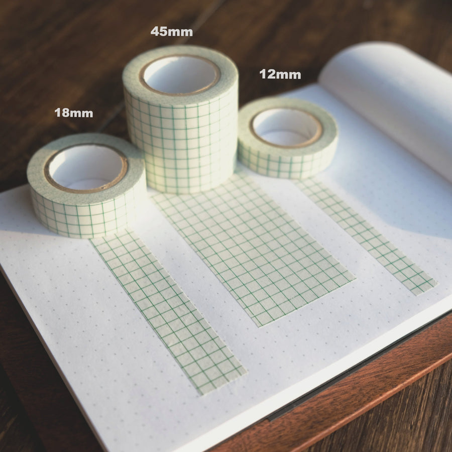 Classiky Grid 12mm, 18mm, 45mm Masking Tape (Green)