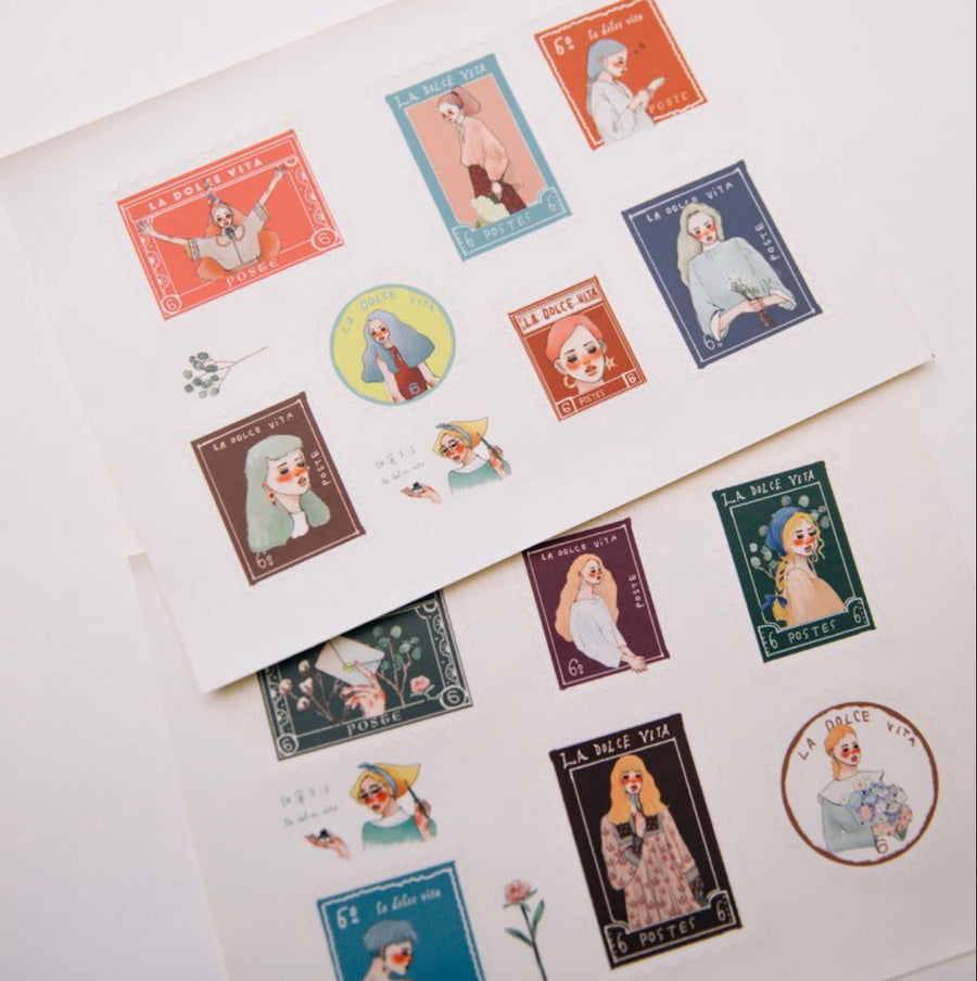 LDV Stamp Girls Stickers Set