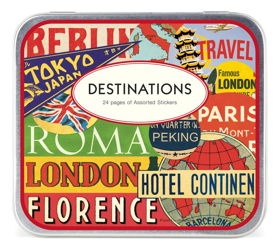 Cavallini Destinations Stickers