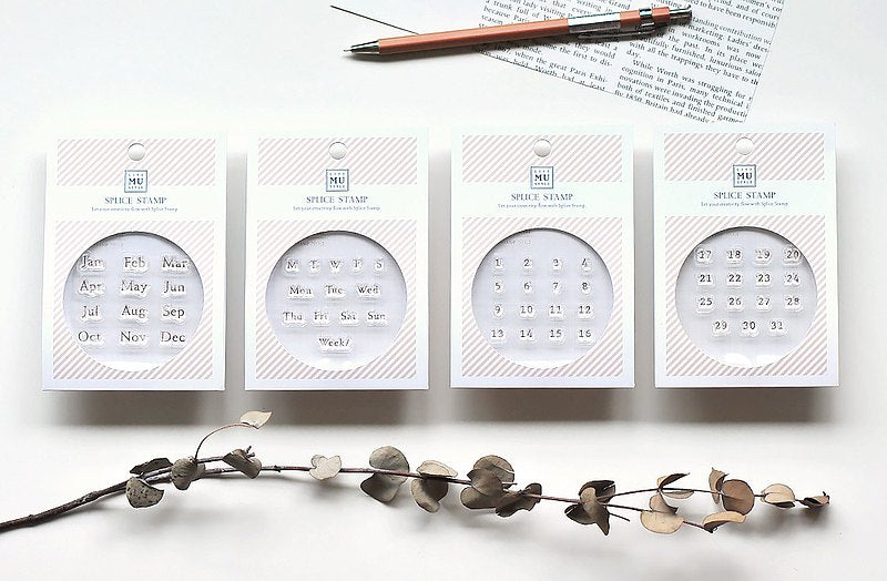 MU Clear Splice Stamp Set - Date