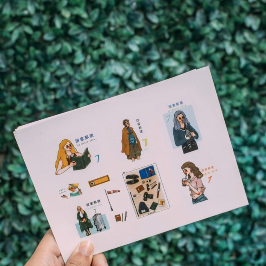 LDV bon voyage journey stamp sticker sets