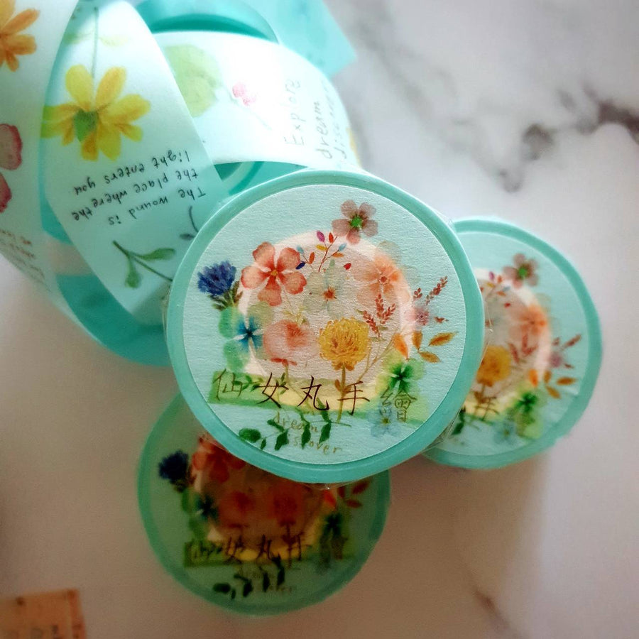 Fairy-Pill Floral Love Washi Tape