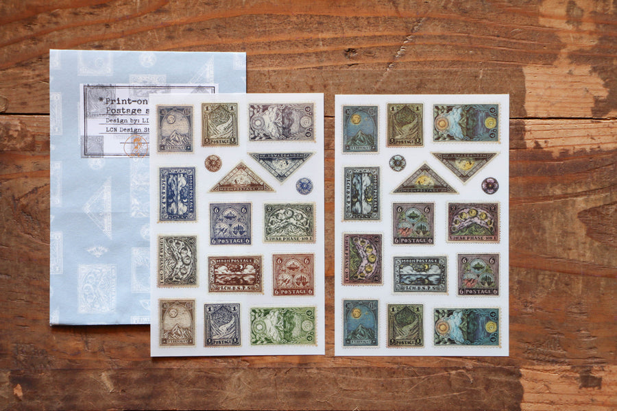 LCN Print-on stickers-Postage Stamp