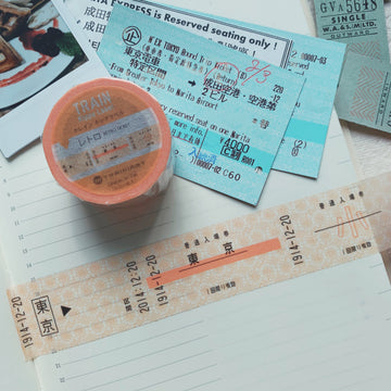 Trainiart x Yuruliku Train Kippu Label Retro Ticket