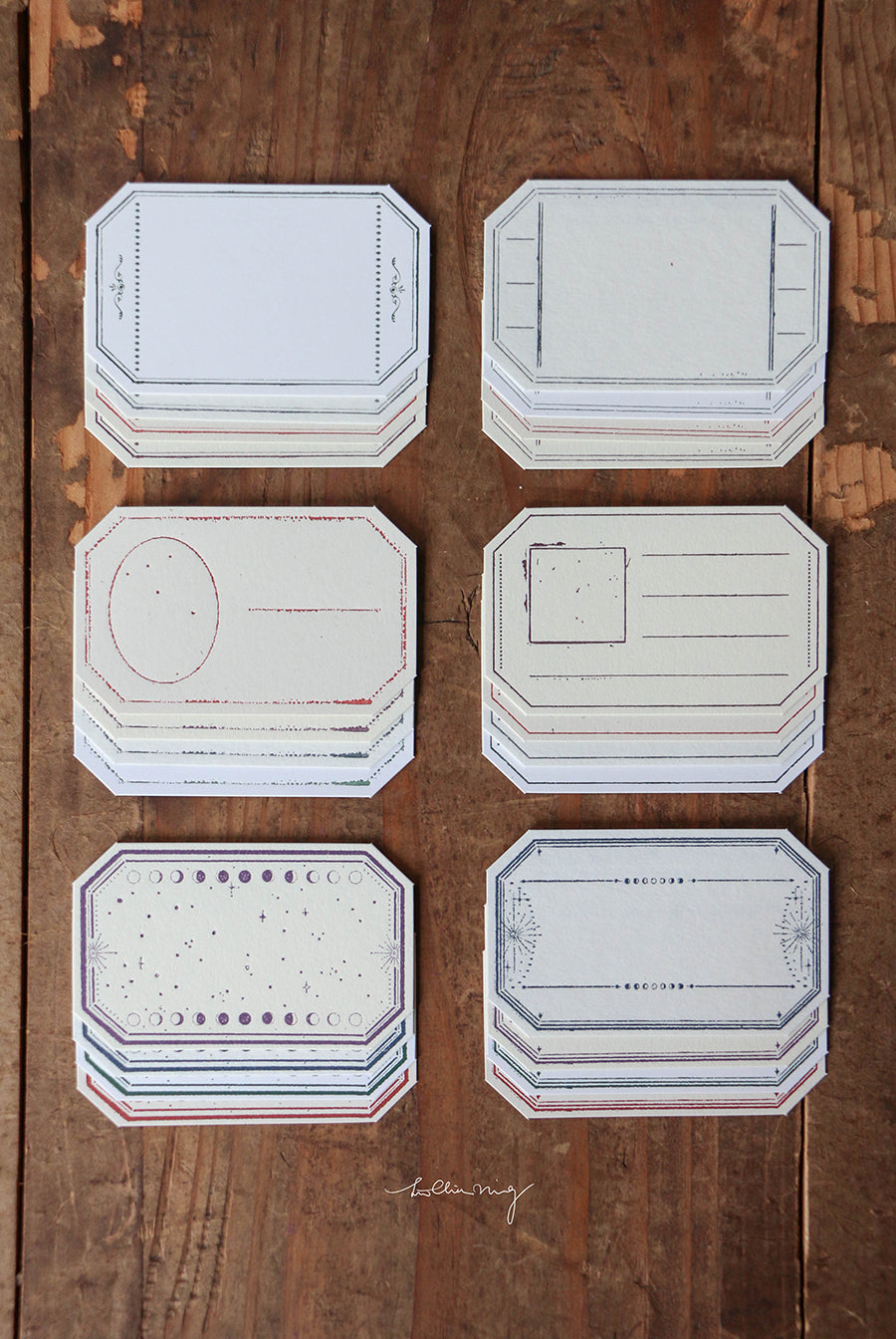 LCN Studio Design Letterpress Vintage Tag Set B