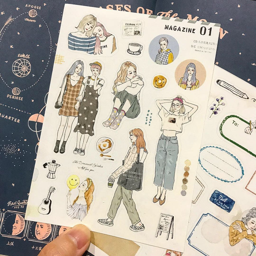 Pion - Girl Label Sticker sheet 2019