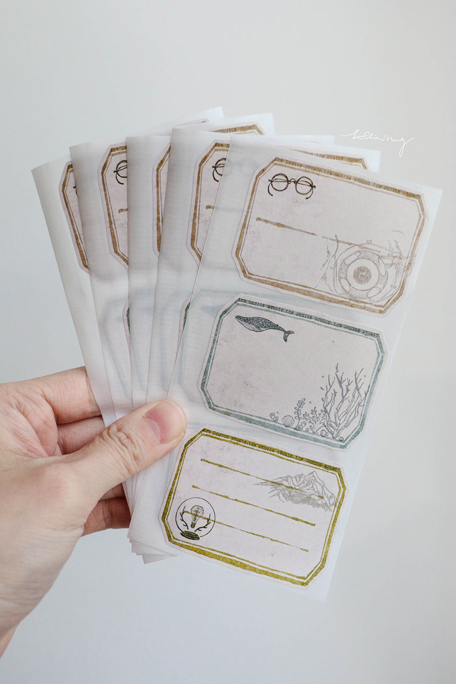 LCN Vintage Label Sticker set