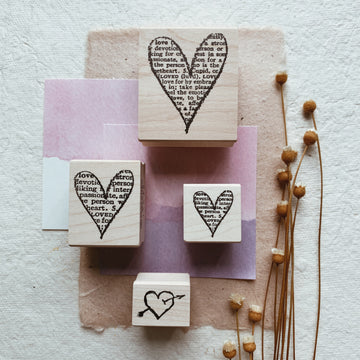 CatslifePress Heart shape Rubber Stamp