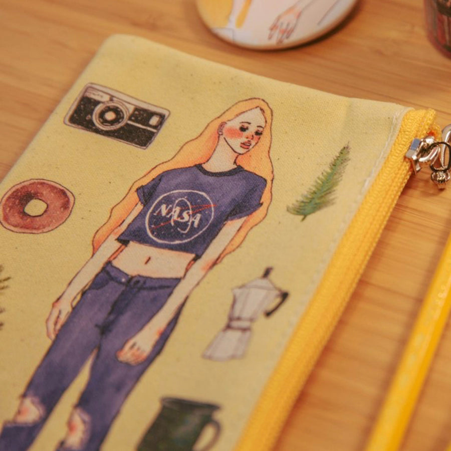 LDV Space Girl Canvas Pencil Case