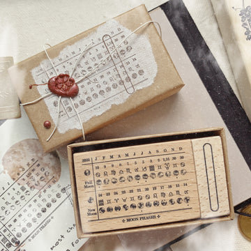 Innk Moonphases Calendar  Rubber Stamp set