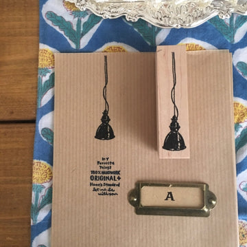 Kubominoki Hanging Lights Rubber Stamp - Hanging Bell-Shaped Pendant Light