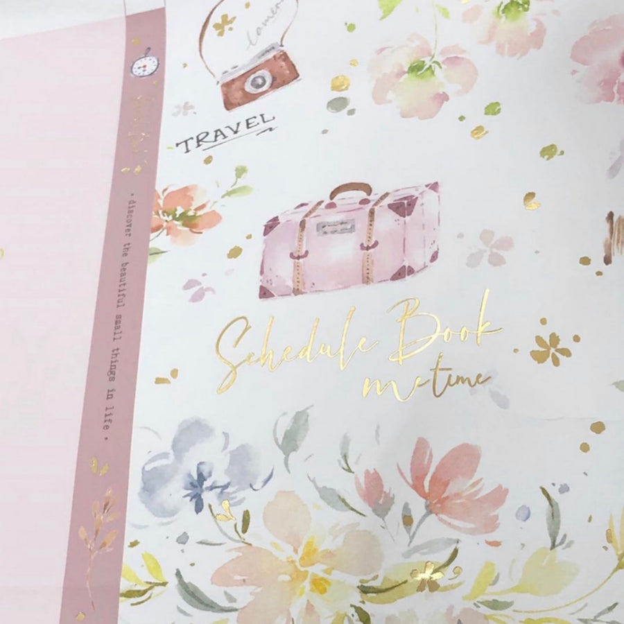 Meow Illustration Me Time Watercolour Schedule Book