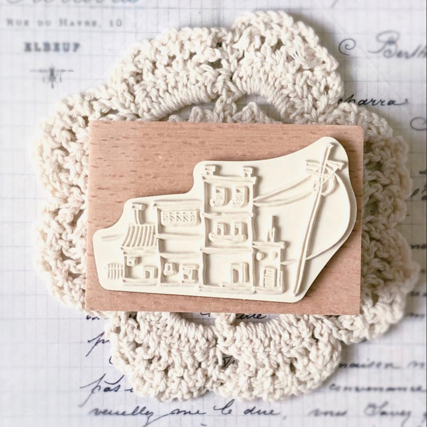 LadyF Little House Rubber Stamps
