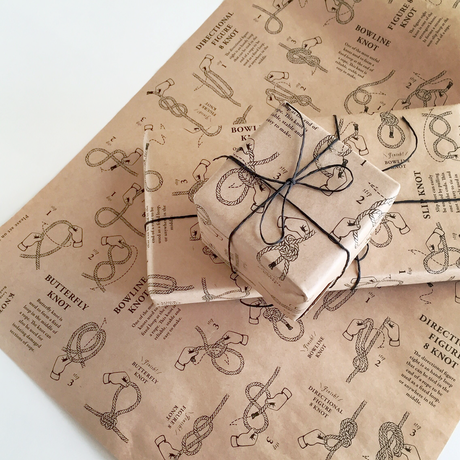 KNOOPWORKS KNOTS wrapping paper