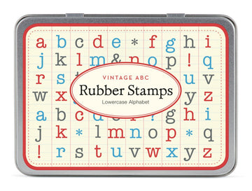 Cavallini Vintage Alphabet Lowercase Stamp Set