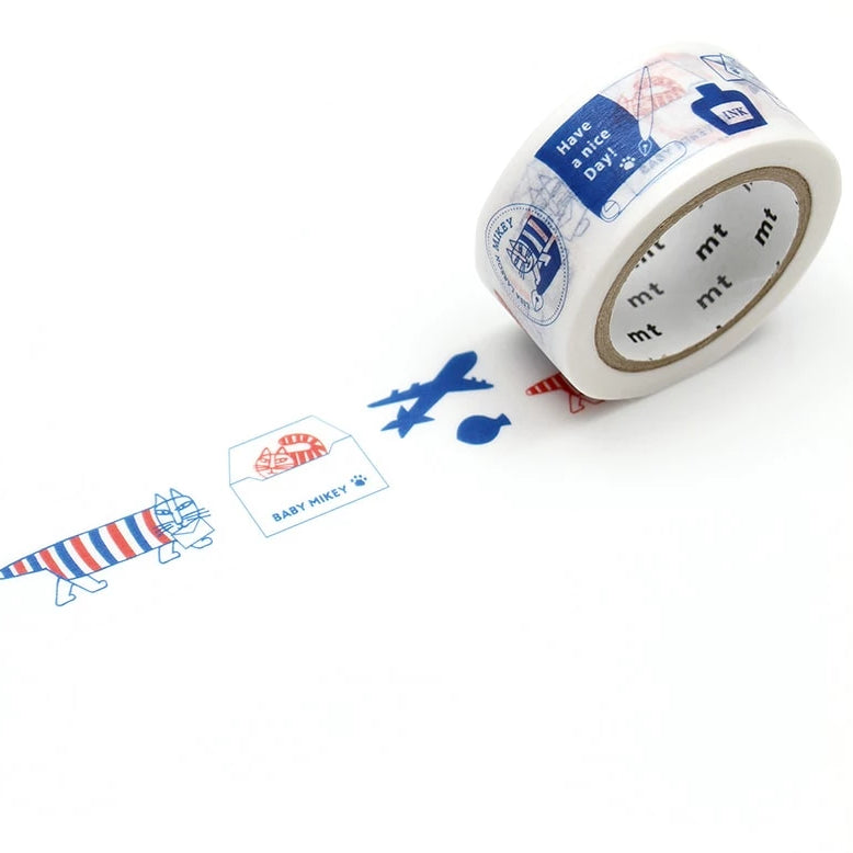 MT x Lisa Larson Washi Tape - Letter Mikey