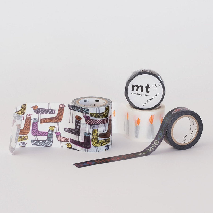 MT x Mina Perhonen Washi Tape - Petal Flame