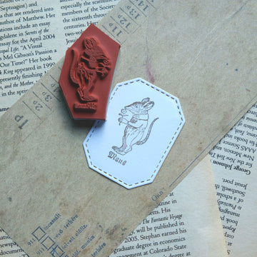 Makistamps - The Dormouse Holding the Flower