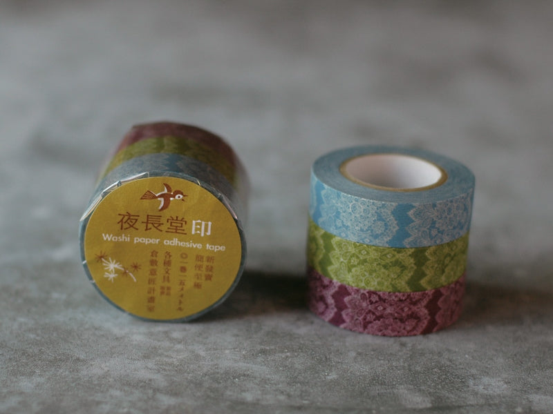 Classiky Lace Masking Tape - Set of 3