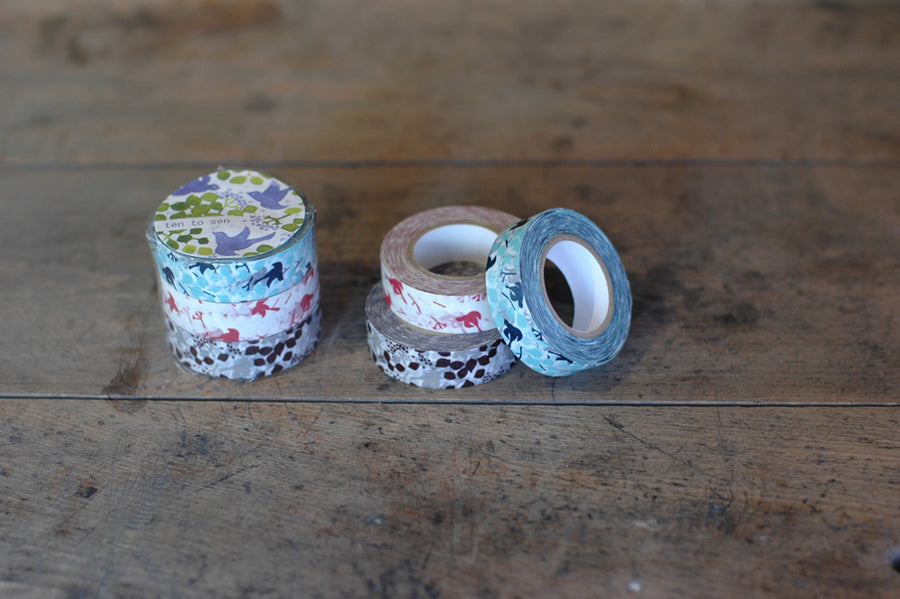 Classiky Message Bird Masking Tape - Set of 3