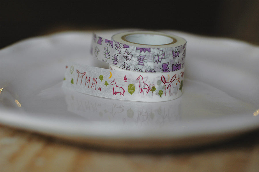 Classiky Forest + Butterfly Masking Tape - 2 design Set