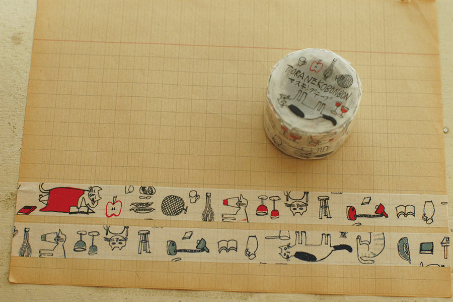 Classiky x Toranekobonbon Masking Tape - Memory of Monchi (Set of 2)
