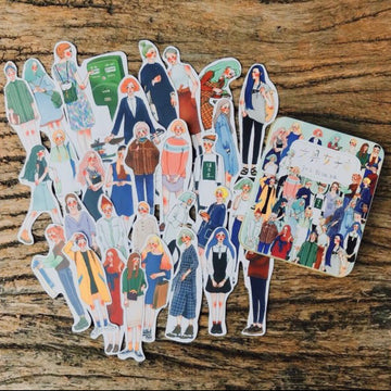 LDV Stationery Girl Stickers Set (30pcs)