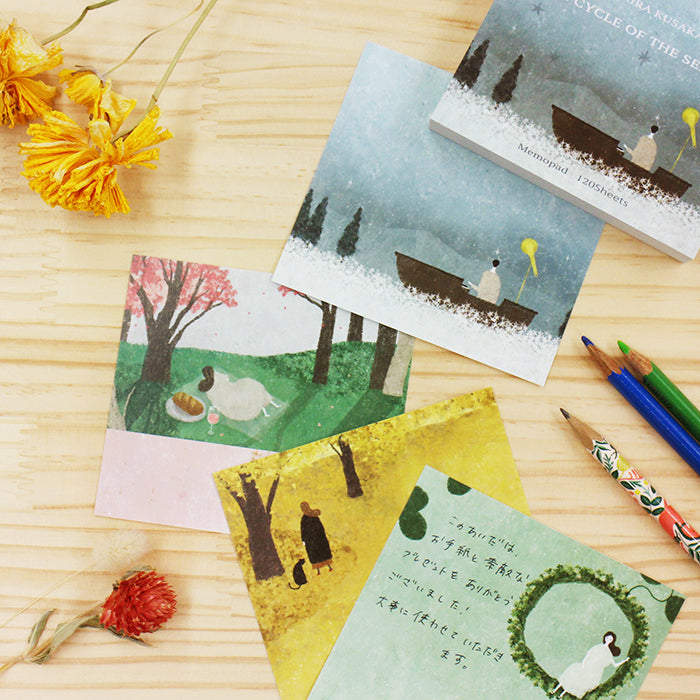 Akira Kusaka memo pad - THE CYCLE OF THE SEASONS