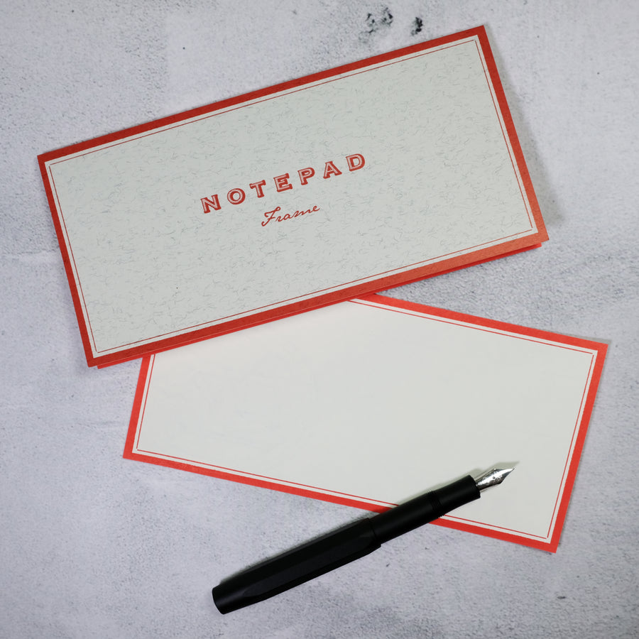 Notepad - Frame RED