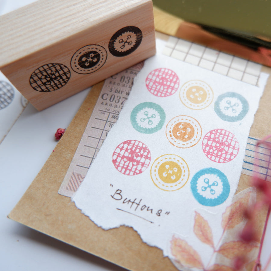 Laabiri Buttons Rubber Stamp