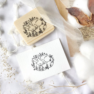 Laabiri Dreamy Bunnies Rubber Stamp