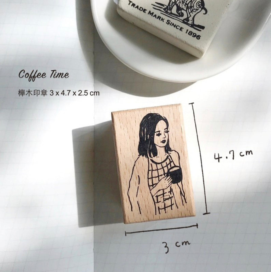 Pion - Coffee Time Rubber Stamp