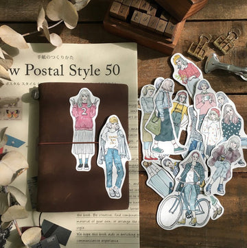 Pion -Third color Girl Stickers(Set of 17)