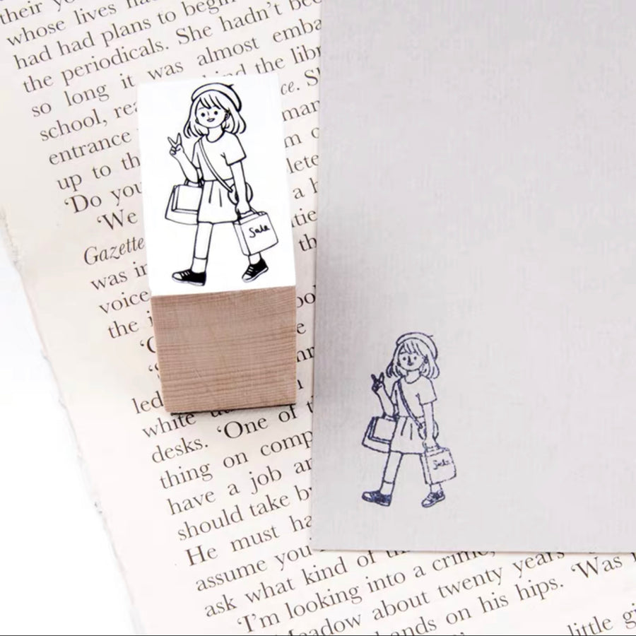 B.Book Girl's Daily Rubber Stamps