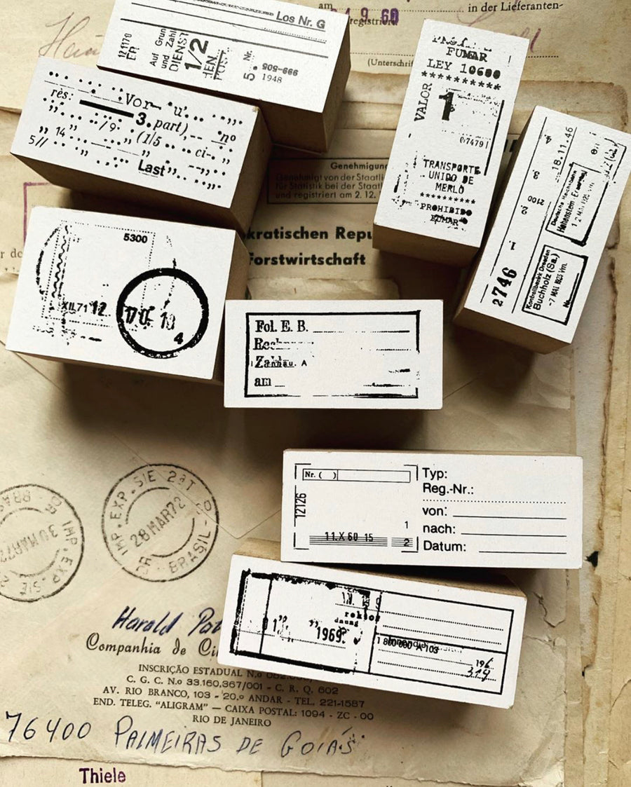 x.amnesiac.x Fill in the blank__________ Rubber Stamp Set