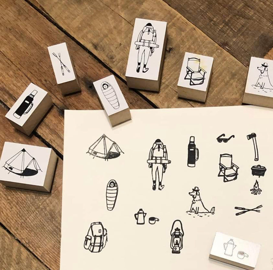 Soupy Tang The Great Outdoors rubber stamp set 【Limited Edition】