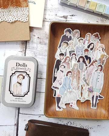 Windry Ramadhina Dolls stickers in Tin