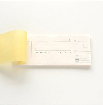 Tosawashi Products Horizontal letterpress Washi Receipt Book