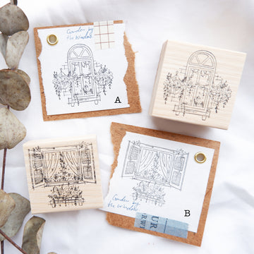 "Laabiri ""Garden By the Window"" Rubber Stamps"