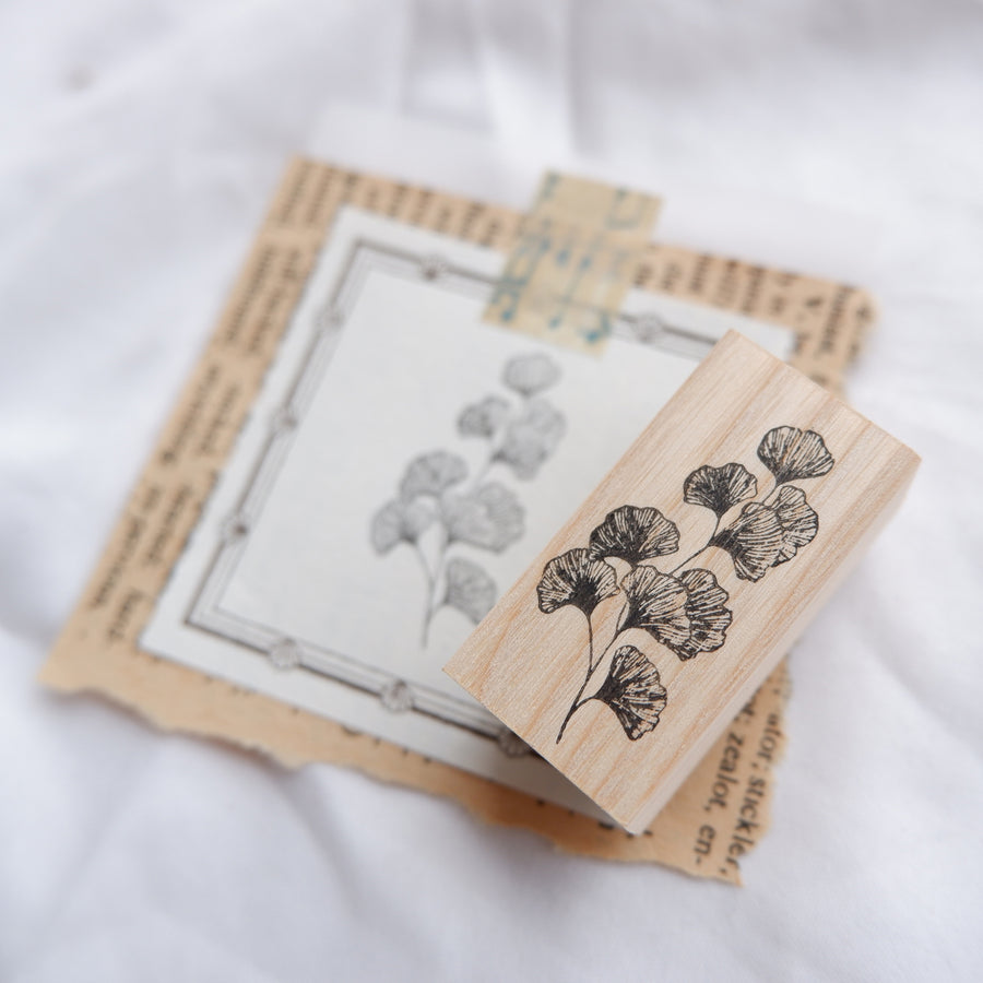Laabiri Gingko Rubber Stamp
